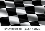 Race Flag  3d Render
