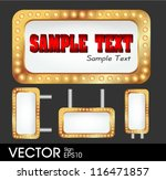 sign with copy space and light... | Shutterstock .eps vector #116471857