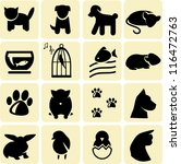 domestic animals icons | Shutterstock .eps vector #116472763