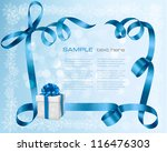 holiday background with blue... | Shutterstock .eps vector #116476303