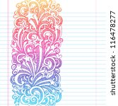 back to school sketchy notebook ... | Shutterstock .eps vector #116478277