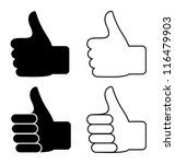 thumbs up | Shutterstock .eps vector #116479903