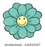 Illustration Of A Flower On...