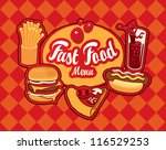 cover for fast food menu | Shutterstock .eps vector #116529253