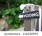 wedding wood sign | Shutterstock . vector #116530993