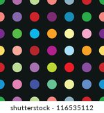 polkadots - stock vector