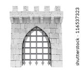 Isolated Closed Medieval Gate...