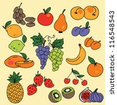 vector illustration   set of... | Shutterstock .eps vector #116548543