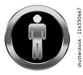 Men Icon Silver  Isolated On...