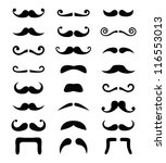 Moustache /  mustache icons isolated set - costume party