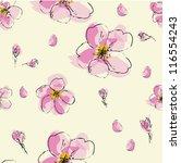 Stock vector sacura flower pattern 116554243