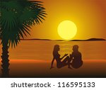 sunset | Shutterstock .eps vector #116595133