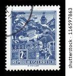 austria   circa 1968  a stamp...   Shutterstock . vector #116597863