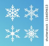 Vector snowflakes set for Christmas design. - stock vector
