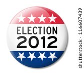 Badge for American election 2012 - stock vector