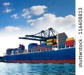 Cargo Sea Port. Sea Cargo...