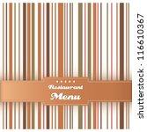 menu card design template... | Shutterstock .eps vector #116610367