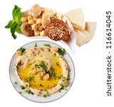 Hummus. - stock photo