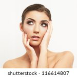 close up portrait of beautiful... | Shutterstock . vector #116614807