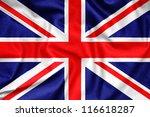 Great britain waving flag
