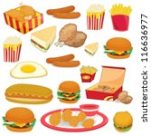 illustration of food on a white ... | Shutterstock .eps vector #116636977