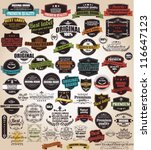 set of vintage retro labels ... | Shutterstock .eps vector #116647123