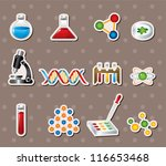 Science stickers - stock vector