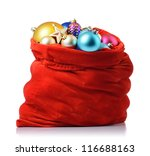 Santa Claus Red Bag With...