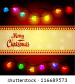 christmas background   vector... | Shutterstock .eps vector #116689573