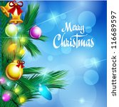 christmas background   vector... | Shutterstock .eps vector #116689597