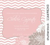 wedding card or invitation with ...   Shutterstock .eps vector #116698243