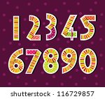 numbers  colorful number... | Shutterstock .eps vector #116729857
