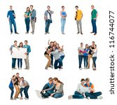 group of students. isolated... | Shutterstock . vector #116744077
