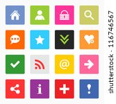 16 popular colors icon with... | Shutterstock .eps vector #116746567