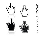 middle finger icon for iphone.