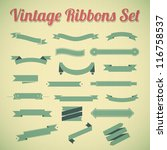 vintage styled ribbons... | Shutterstock .eps vector #116758537
