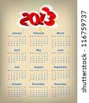 vector santa calendar 2013 year ... | Shutterstock .eps vector #116759737