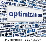 optimization message background.... | Shutterstock . vector #116766997