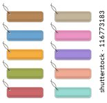 colorful labels made of leather.... | Shutterstock .eps vector #116773183