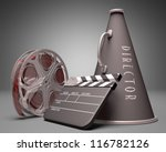 Important objects in the use of film industry and entertainment - stock photo