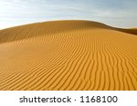 Desert Scene With Sand Ripples...