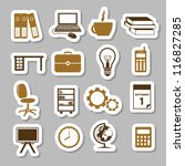 office stickers - stock vector