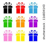colorful gift box symbol set... | Shutterstock .eps vector #116834143