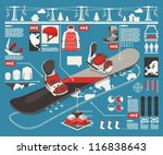 snowboard info graphic elements, snowboard parts background,