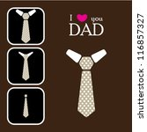 father's day' neck tie card in... | Shutterstock .eps vector #116857327