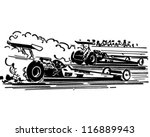 drag racing   retro clipart... | Shutterstock .eps vector #116889943
