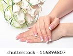 female hands with perfect... | Shutterstock . vector #116896807