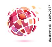 abstract globe symbol  isolated ... | Shutterstock .eps vector #116910997
