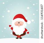 vector santa claus wave. ... | Shutterstock .eps vector #116931607