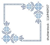cross stitching embroidery in... | Shutterstock . vector #116940937